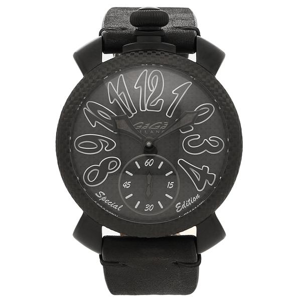 GAGA MILANO 腕時計 メンズ 手巻き ガガミラノ 5016.SP01-BLK ブラック