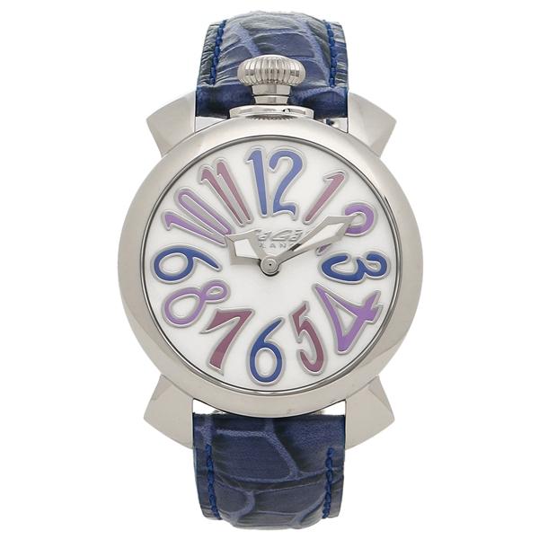GAGA MILANO 腕時計 レディース メンズ ガガミラノ 5020.3-BLU-NEW ホワイトパール