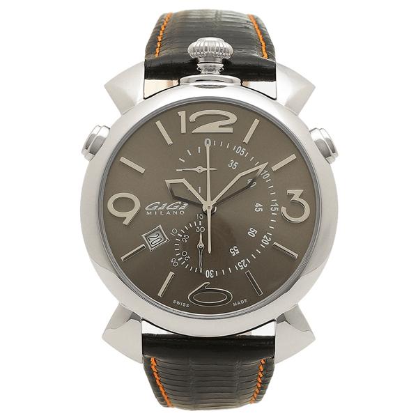 GAGA MILANO 腕時計 メンズ ガガミラノ 5097.03BK-NEW-N-ST ブラック オレンジ
