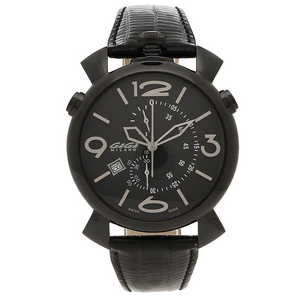 GAGA MILANO 腕時計 メンズ ガガミラノ 5099.01BK-NEW-N-ST ブラック