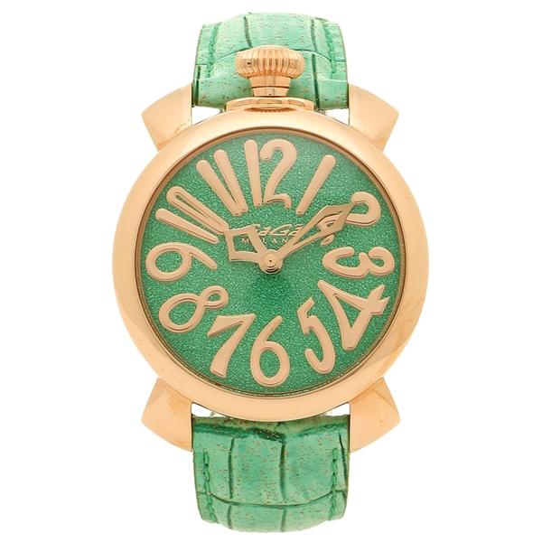 GAGA MILANO 腕時計 レディース メンズ ガガミラノ 5221.02 グリーン