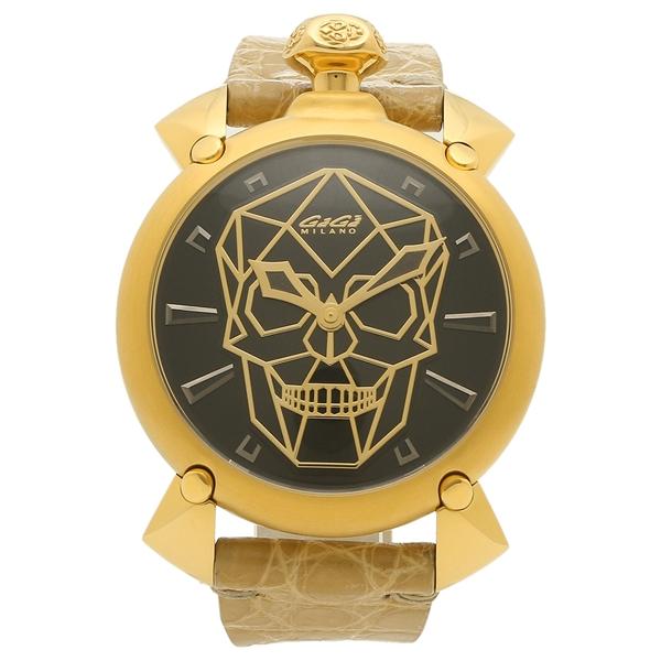 GAGA MILANO 腕時計 メンズ 自動巻き ガガミラノ 6014.01S ベージュ ブラック