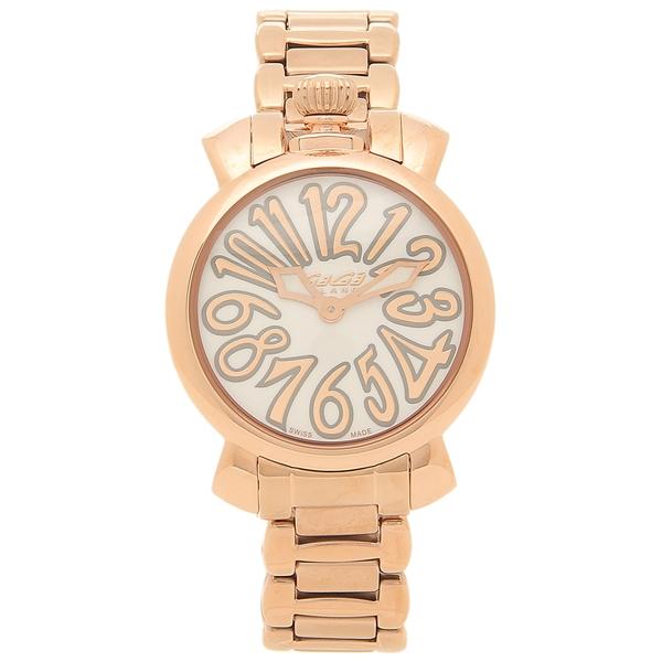 GAGA MILANO 腕時計 レディース ガガミラノ 6021.1-NEW ピンクゴールド ホワイト