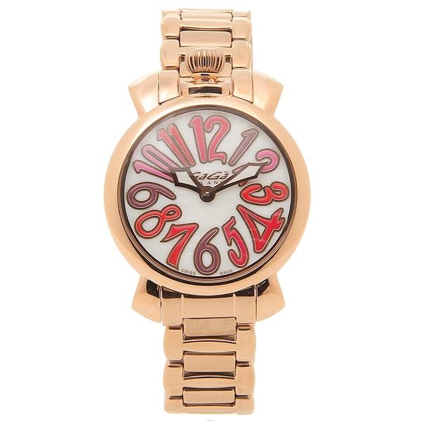 GAGA MILANO 腕時計 レディース ガガミラノ 6021.3-NEW ピンクゴールド ホワイト