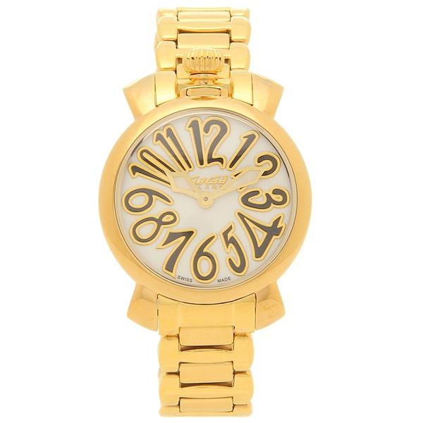 GAGA MILANO 腕時計 レディース ガガミラノ 6023.1 イエローゴールド ホワイト
