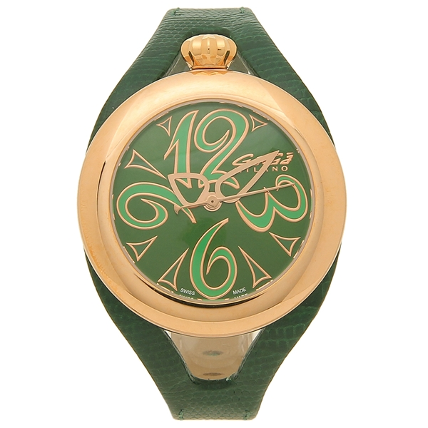 GAGA MILANO 腕時計 レディース メンズ ガガミラノ 6071.04 グリーン