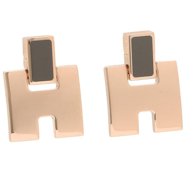 HERMES ピアス アクセサリー レディース エルメス H616201FO 1D グレー ピンクゴールド