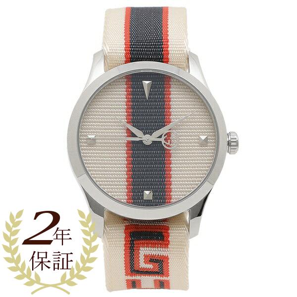 GUCCI 腕時計 メンズ グッチ YA1264071A ホワイト レッド シルバー