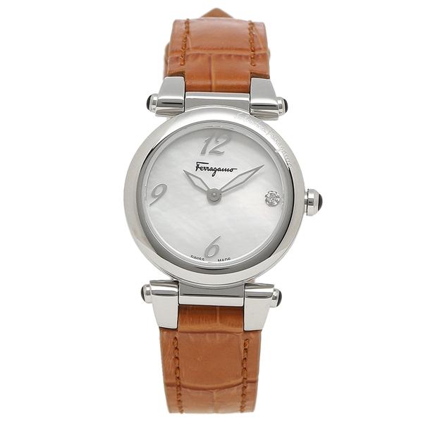Salvatore Ferragamo 腕時計 レディース フェラガモ SFEY00119 ブラウン シルバー