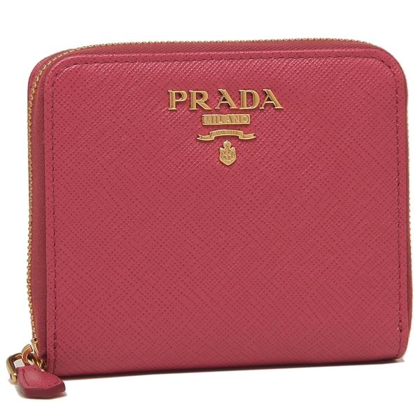 PRADA 折財布 レディース プラダ 1ML036 QWA F0505 ピンク