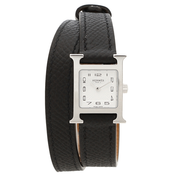 HERMES 腕時計 レディース エルメス 037878WW00 HH1.110.131/UU892 ブラック シルバー