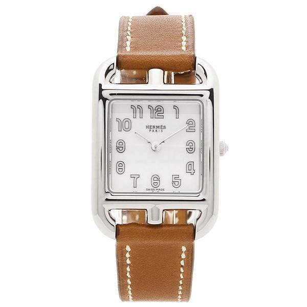 HERMES 腕時計 レディース エルメス 045720WW00 CC1.210.130/VB34-I ブラウン シルバー