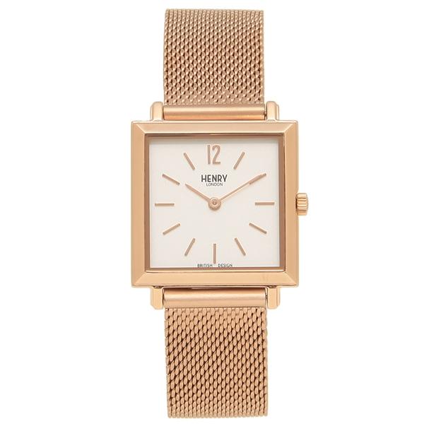 HENRY LONDON 腕時計 レディース HERITAGESQUARE ヘリテージスクエア 26MM ヘンリーロンドン HL26-QM-0264 ローズゴールド