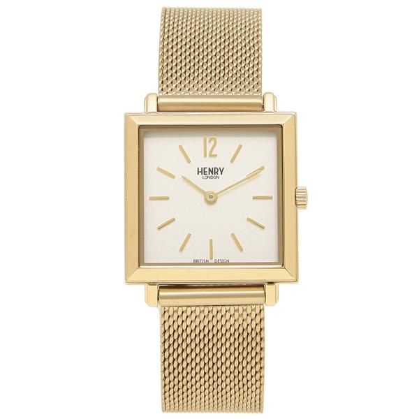 HENRY LONDON 腕時計 レディース HERITAGESQUARE ヘリテージスクエア 26MM ヘンリーロンドン HL26-QM-0266 ゴールド
