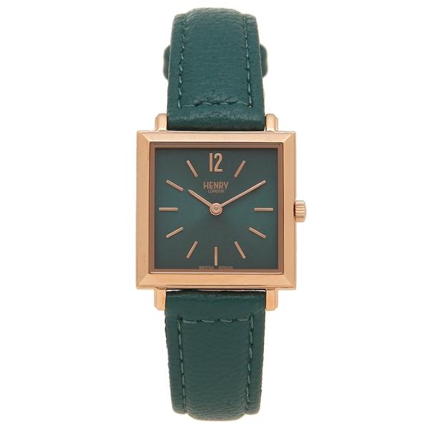 HENRY LONDON 腕時計 レディース HERITAGESQUARE ヘリテイジスクエア 26MM ヘンリーロンドン HL26-QS-0258 グリーン