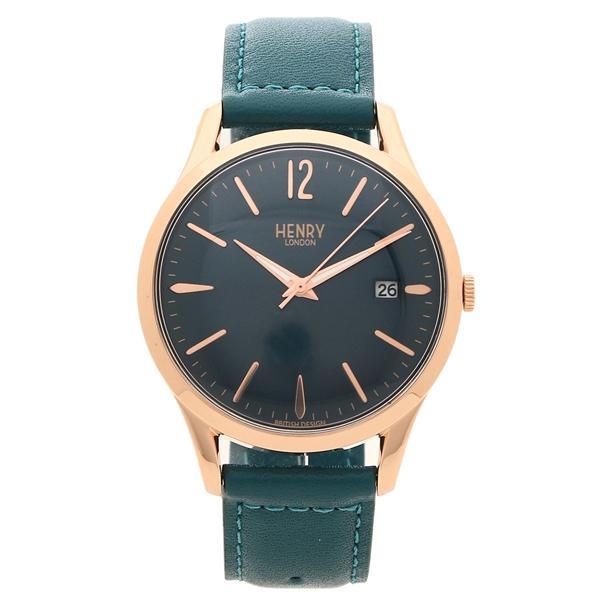 HENRY LONDON 腕時計 レディース メンズ STRATFORD ストラトフォ-ド 39MM ヘンリーロンドン HL39-S-0134 グリーン