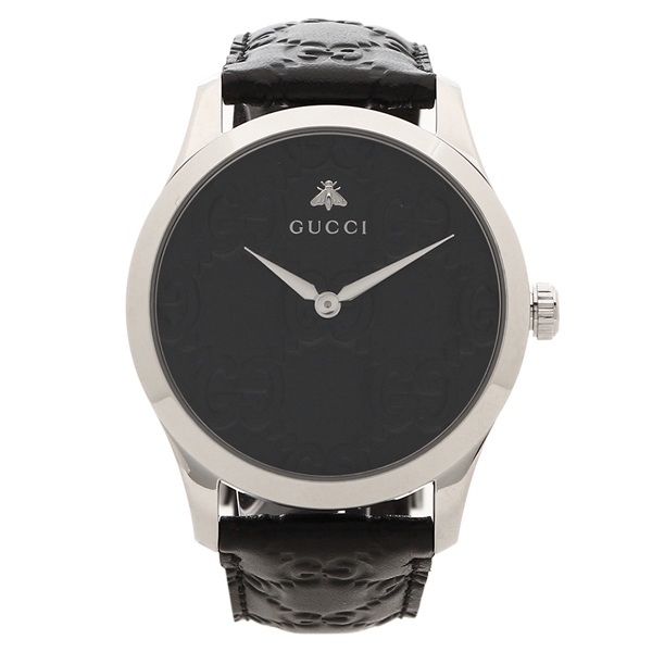 GUCCI 腕時計 メンズG-TIMELESS G-タイムレス 38MM グッチ YA1264031 ブラック シルバー