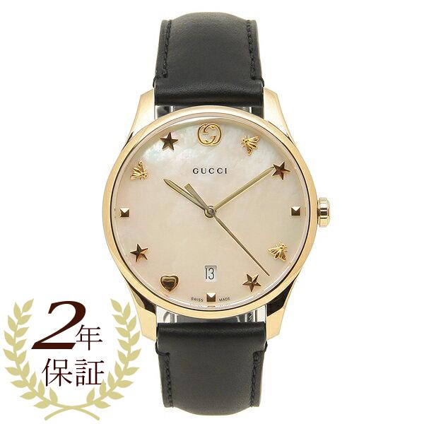 GUCCI 腕時計 レディースG-TIMELESS G-タイムレス36MM グッチ YA1264044 ブラック ゴールド