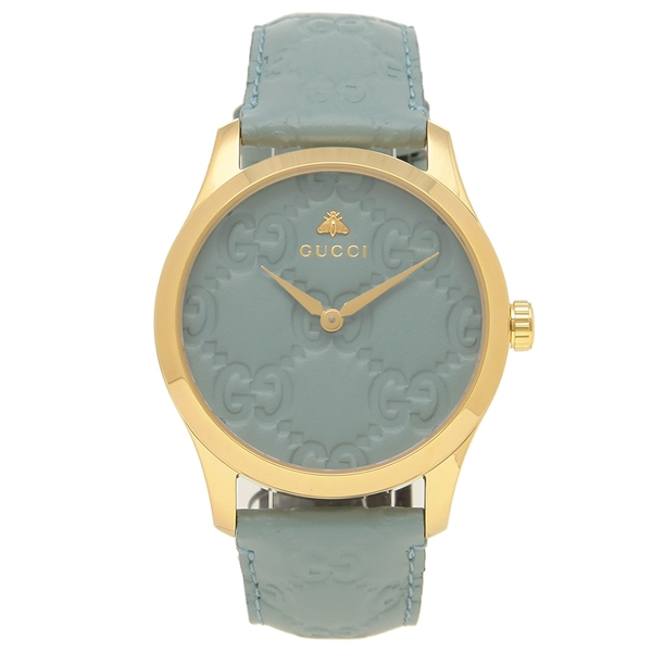 GUCCI 腕時計 レディースG-TIMELESS G-タイムレス 38MM グッチ YA1264097 ブルー イエローゴールド