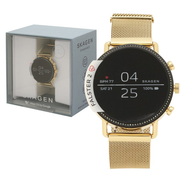SKAGEN 腕時計 スマートウォッチ メンズ レディース スカーゲン SKT5111 ゴールド