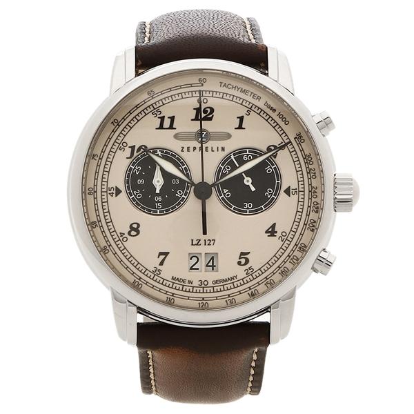 ZEPPELIN 腕時計 メンズ LZ127 GRAF ZEPPELIN グラーフ 40MM ツェッペリン 8684-5 ブラウン ベージュ