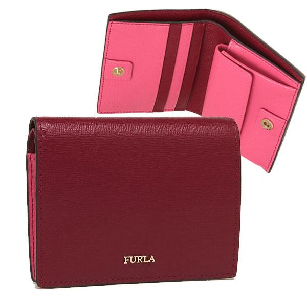FURLA 折財布 レディース フルラ 1045887 PBA3 B30 X58 レッド/ピンク