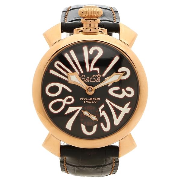 GAGA MILANO 腕時計 メンズ ガガミラノ 5011.12S BLK 48MM ブラック