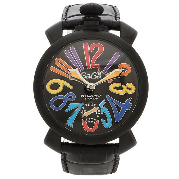 GAGA MILANO 腕時計 メンズ ガガミラノ 5012.03S BLK 48MM ブラック マルチ