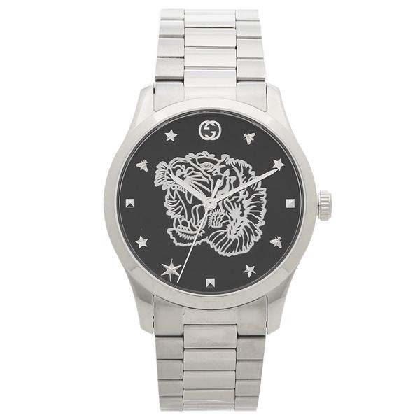 GUCCI 腕時計 メンズ グッチ YA1264125 38MM シルバー ブラック