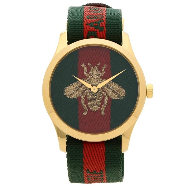 GUCCI 腕時計 レディース グッチ YA126487 38MM グリーン レッド