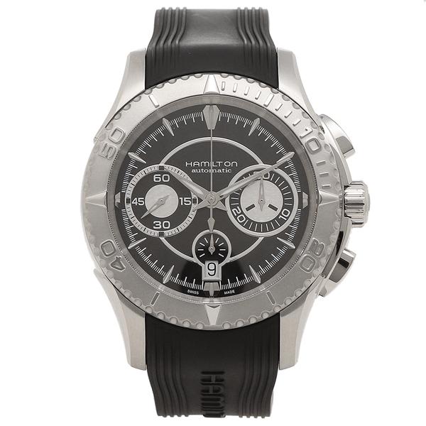 HAMILTON 腕時計 メンズ ハミルトン H37616331 44MM ブラック シルバー