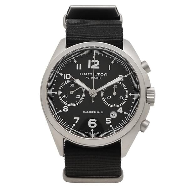 HAMILTON 腕時計 メンズ ハミルトン H76456435 41MM シルバー ブラック
