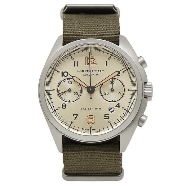 HAMILTON 腕時計 メンズ ハミルトン H76456955 41MM カーキ シルバー