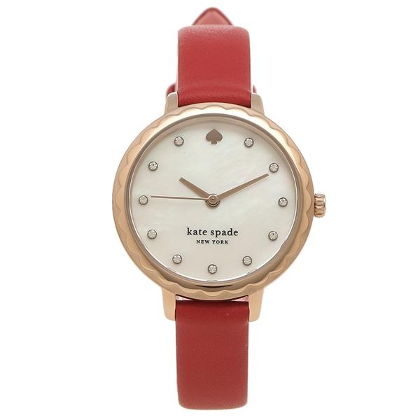 KATE SPADE 腕時計 レディース ケイトスペード KSW1565 28MM レッド ローズゴールド