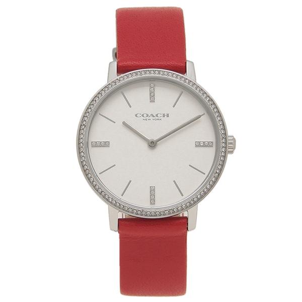 COACH 腕時計 レディース コーチ 14503427 35MM レッド シルバー
