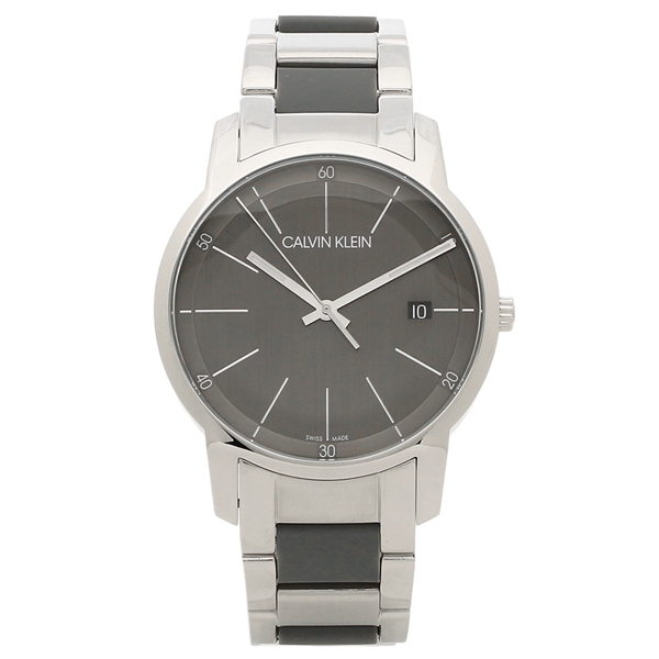 CALVIN KLEIN 腕時計 メンズ カルバンクライン K2G2G1P4 43MM シルバー グレー