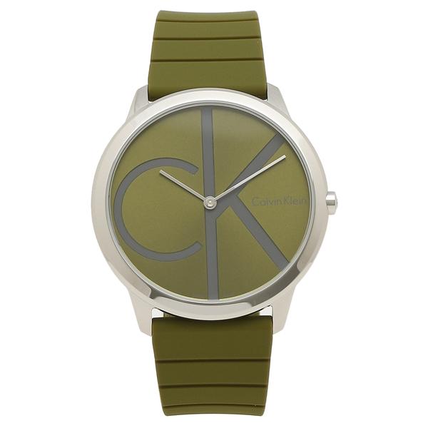 CALVIN KLEIN 腕時計 メンズ カルバンクライン K3M211WL 40MM グリーン