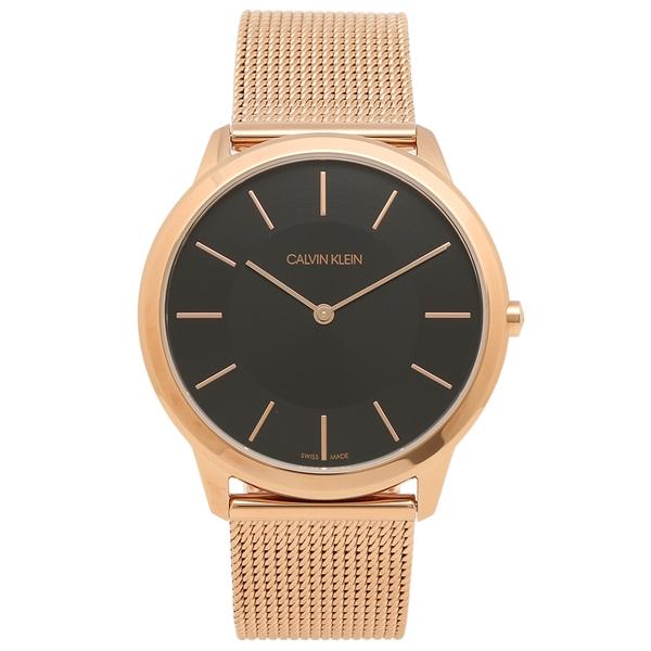 CALVIN KLEIN 腕時計 レディース メンズ カルバンクライン K3M2162Y 40MM ローズゴールド ブラック