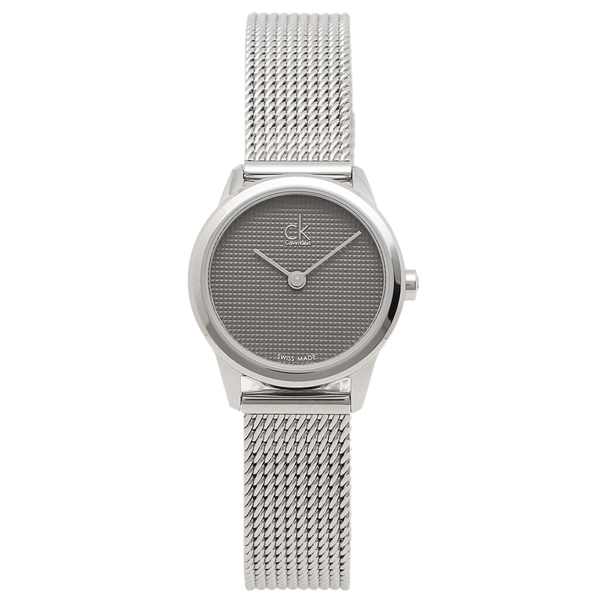 CALVIN KLEIN 腕時計 レディース カルバンクライン K3M2312X 24MM シルバー グレー