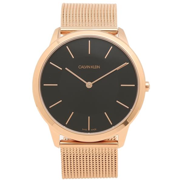 CALVIN KLEIN 腕時計 レディース メンズ カルバンクライン K3M2T621 43MM ローズゴールド ブラック
