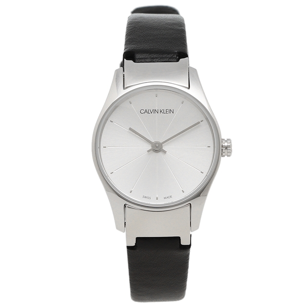 CALVIN KLEIN 腕時計 レディース カルバンクライン K4D231C6 24MM ブラック シルバー