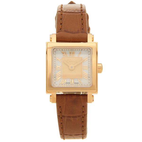 FENDI 腕時計 レディース フェンディ F604524521 20MM ブラウン ホワイトパール
