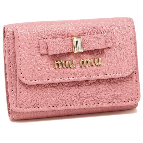 MIU MIU 折財布 レディース ミュウミュウ 5MH021 2D7A F0028 ピンク