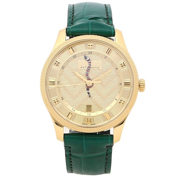 GUCCI 腕時計 メンズ グッチ YA126341 40MM 自動巻き グリーン