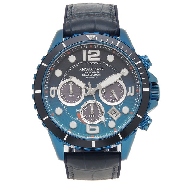 ANGEL CLOVER 腕時計 メンズ エンジェルクローバー TCD45NNG-NV 45MM ネイビー ブルー