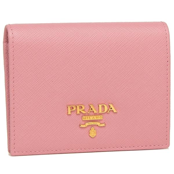 PRADA 折財布 レディース プラダ 1MV204 QWA F0442 ピンク