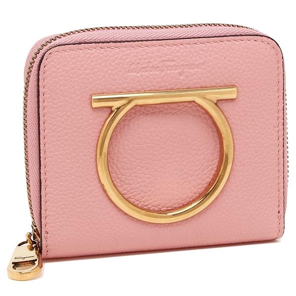 Salvatore Ferragamo 折財布 レディース フェラガモ 22D290 0724535 ピンク