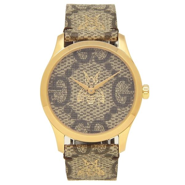 GUCCI 腕時計 レディース メンズ グッチ YA1264068 38MM ゴールド ブラウン