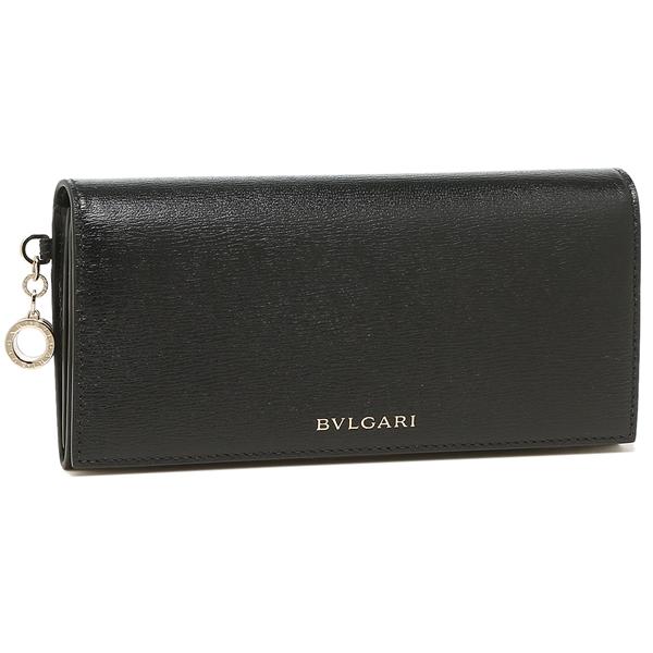 BVLGARI 長財布 レディース ブルガリ 288229 ブラック グリーン
