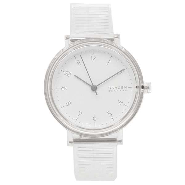 SKAGEN 腕時計 レディース メンズ スカーゲン SKW2858 36MM ホワイト クリア